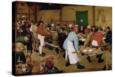 The Peasant Wedding, Ca 1568-Pieter Bruegel the Elder-Stretched Canvas Print