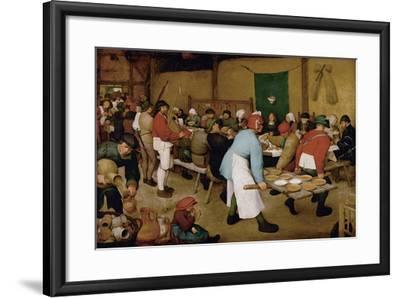 The Peasant Wedding, Ca 1568-Pieter Bruegel the Elder-Framed Giclee Print