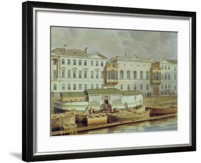 Naryshkin Palace on the Fontanka River, Mid of the 19th C-Ludwig Premazzi-Framed Giclee Print