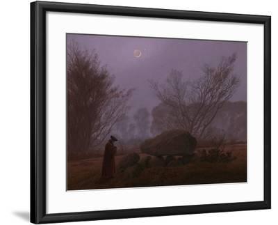 A Walk at Dusk, 1830-1835-Caspar David Friedrich-Framed Giclee Print