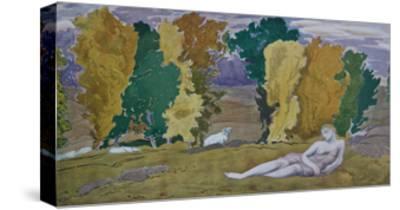 Stage Design for the Ballet Daphnis Et Chloé by M. Ravel, 1912-L?on Bakst-Stretched Canvas Print