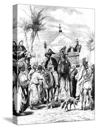 The Return of the Pilgrimage, 1881--Stretched Canvas Print