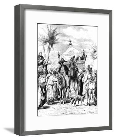 The Return of the Pilgrimage, 1881--Framed Giclee Print