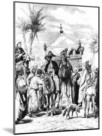 The Return of the Pilgrimage, 1881--Mounted Giclee Print