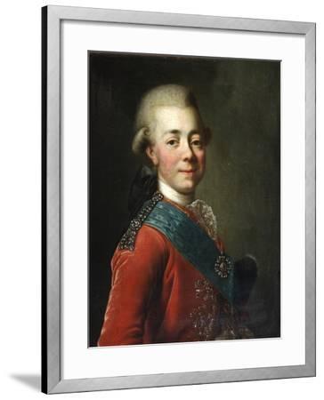 Portrait of Grand Duke Pavel Petrovich (1754-180), 1770S-Dmitri Grigorievich Levitsky-Framed Giclee Print