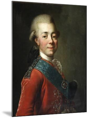 Portrait of Grand Duke Pavel Petrovich (1754-180), 1770S-Dmitri Grigorievich Levitsky-Mounted Giclee Print