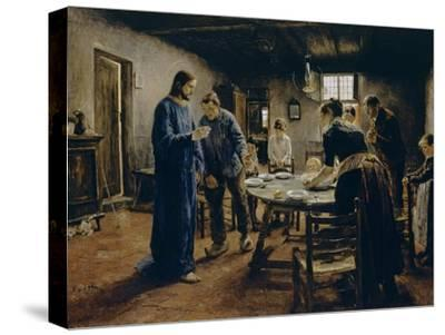 The Mealtime Prayer, 1885-Fritz von Uhde-Stretched Canvas Print