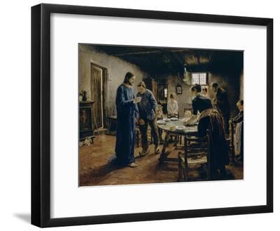 The Mealtime Prayer, 1885-Fritz von Uhde-Framed Giclee Print
