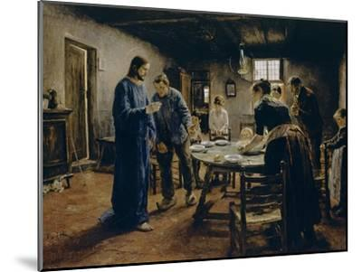 The Mealtime Prayer, 1885-Fritz von Uhde-Mounted Giclee Print