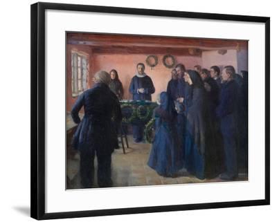 A Funeral, 1891-Anna Ancher-Framed Giclee Print