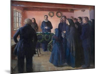 A Funeral, 1891-Anna Ancher-Mounted Giclee Print