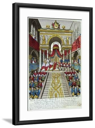 Napoleon Bonaparte Is Crowned Emperor Napoleon I, 2nd December, 1804, 19th Century--Framed Giclee Print