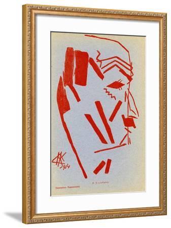 Portrait of Filippo Tommaso Marinetti, 1914-Nikolai Ivanovich Kulbin-Framed Giclee Print