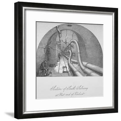 View of the South Subway at the West End of Holborn Viaduct, City of London, 1871--Framed Giclee Print