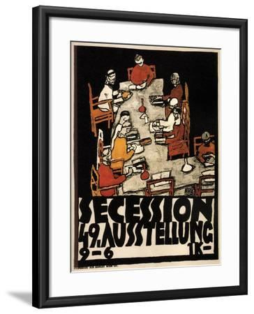 Poster for the Vienna Secession 49th Exhibition, 1918-Egon Schiele-Framed Giclee Print