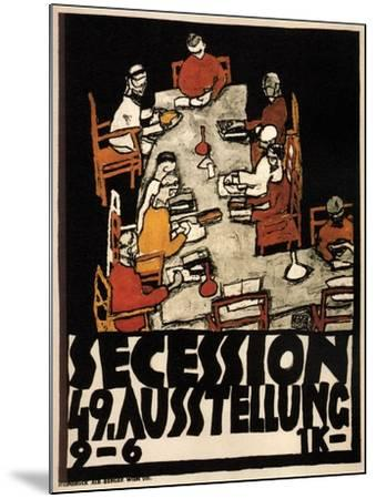 Poster for the Vienna Secession 49th Exhibition, 1918-Egon Schiele-Mounted Giclee Print