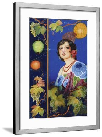 Young Woman with Shawl-Ramón José Izquierdo y Garrido-Framed Giclee Print