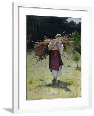 From the Forest, 1900-Nikolai Kornilovich Pimonenko-Framed Giclee Print