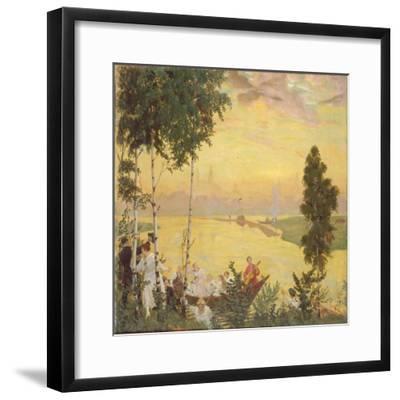 Country Trip, 1918-Boris Michaylovich Kustodiev-Framed Giclee Print