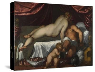 Mars and Venus, Ca 1590-Jacopo Palma il Giovane the Younger-Stretched Canvas Print
