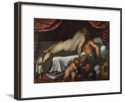 Mars and Venus, Ca 1590-Jacopo Palma il Giovane the Younger-Framed Giclee Print