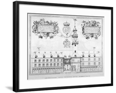 South View of the First Royal Exchange with Coats of Arms Above, City of London, 1819--Framed Giclee Print