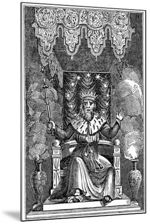 Thor, the Second God in the Ancient Scandinavian Pantheon, 1834--Mounted Giclee Print