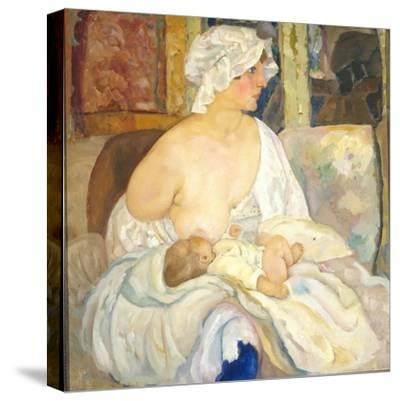 Mother, 1915-Boris Dmitryevich Grigoriev-Stretched Canvas Print