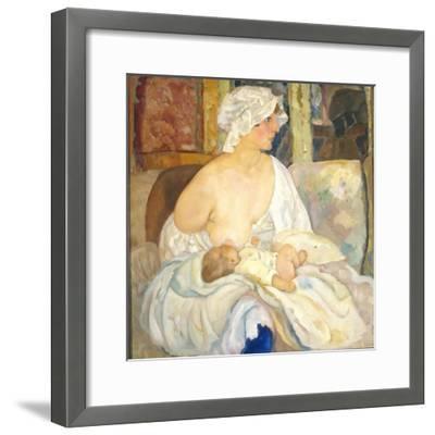 Mother, 1915-Boris Dmitryevich Grigoriev-Framed Giclee Print
