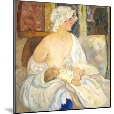 Mother, 1915-Boris Dmitryevich Grigoriev-Mounted Giclee Print