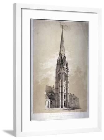 Tower of the Church of St Matthew, Great Peter Street, Westminster, London, 1850-Day & Son-Framed Giclee Print