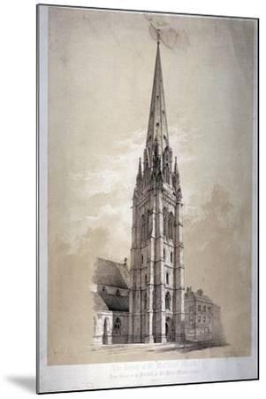 Tower of the Church of St Matthew, Great Peter Street, Westminster, London, 1850-Day & Son-Mounted Giclee Print