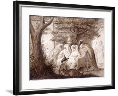 Figures Dressed in Masquerade Costume at Vauxhall Gardens, Lambeth, London, 1782--Framed Giclee Print