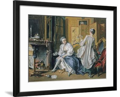 La Toilette, 1742-Fran?ois Boucher-Framed Giclee Print