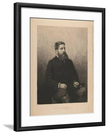 Portrait of James-Edouard De Rothschild (1844-188), 1870S-Daniel Charles Marie Mordant-Framed Giclee Print