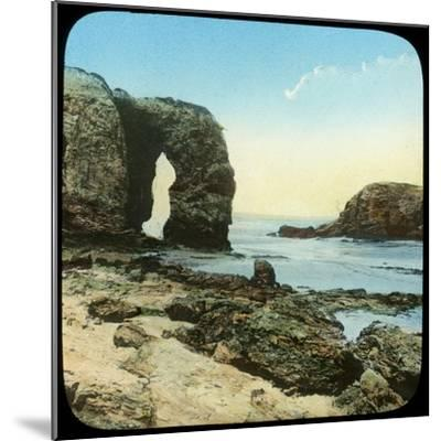 Rock Arch at Perran Beach, Cornwall, Late 19th or Early 20th Century--Mounted Giclee Print