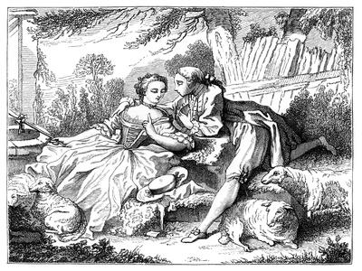 A Shepherdess-Francois Boucher-Framed Giclee Print