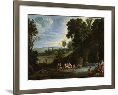 Diana and Callisto, 1620S-Paul Brill-Framed Giclee Print