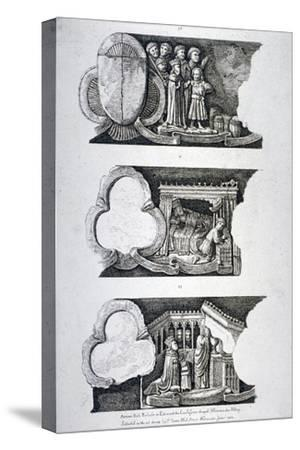 Three Bas-Reliefs in Edward the Confessor's Chapel, Westminster Abbey, London, 1782--Stretched Canvas Print
