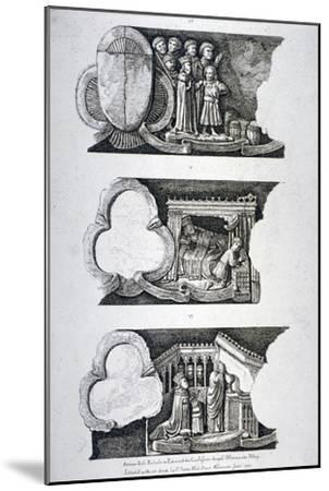Three Bas-Reliefs in Edward the Confessor's Chapel, Westminster Abbey, London, 1782--Mounted Giclee Print