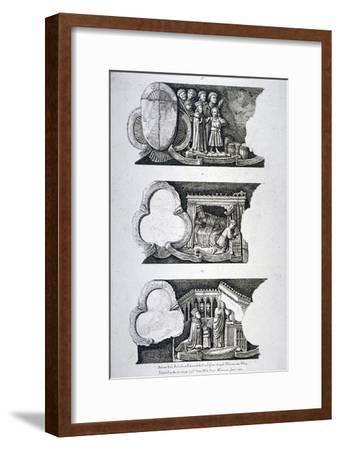Three Bas-Reliefs in Edward the Confessor's Chapel, Westminster Abbey, London, 1782--Framed Giclee Print