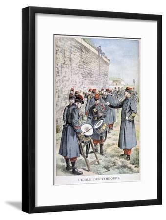 French Army Drum School, 1903--Framed Giclee Print