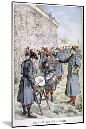 French Army Drum School, 1903--Mounted Giclee Print