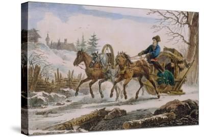 Kibitka, 1820-Eugéne Pluchart-Stretched Canvas Print