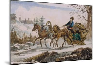 Kibitka, 1820-Eugéne Pluchart-Mounted Giclee Print