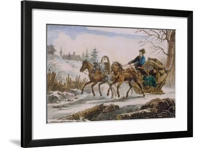 Kibitka, 1820-Eugéne Pluchart-Framed Giclee Print
