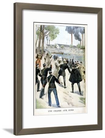 Hunting for Bears, 1901--Framed Giclee Print