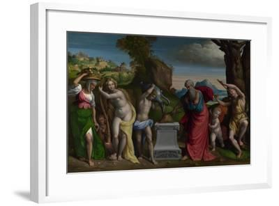 A Pagan Sacrifice, 1526-Benvenuto Tisi Da Garofalo-Framed Giclee Print