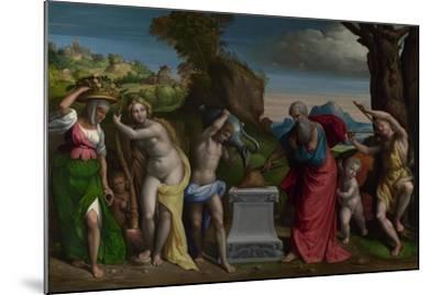A Pagan Sacrifice, 1526-Benvenuto Tisi Da Garofalo-Mounted Giclee Print