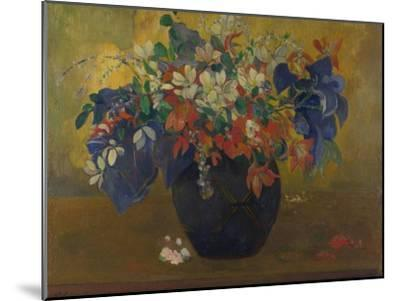 A Vase of Flowers, 1896-Paul Gauguin-Mounted Giclee Print